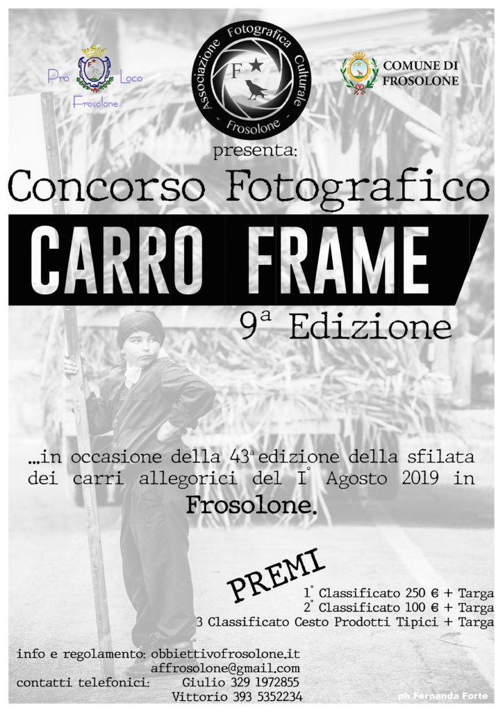 Carro Frame 9a edizione locandina